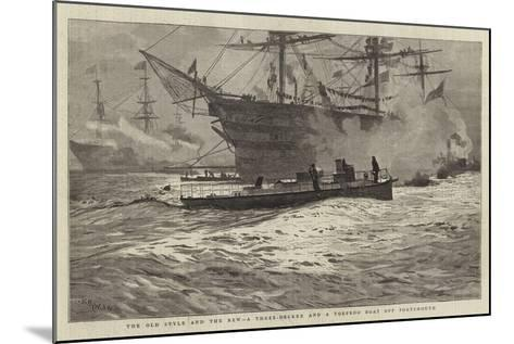 The Old Style and the New, a Three-Decker and a Torpedo Boat Off Portsmouth-William Lionel Wyllie-Mounted Giclee Print