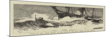 Wreck of the Iron Crown at the Mouth of the Tyne, Arrival of the Life-Boat-William Lionel Wyllie-Mounted Giclee Print