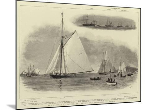 The Regatta at Cannes, the Review and Procession of Yachts-William Lionel Wyllie-Mounted Giclee Print