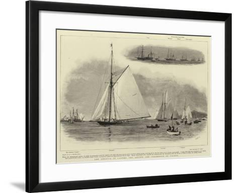 The Regatta at Cannes, the Review and Procession of Yachts-William Lionel Wyllie-Framed Art Print