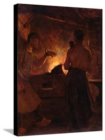 The Forge, C.1855-William Morris Hunt-Stretched Canvas Print