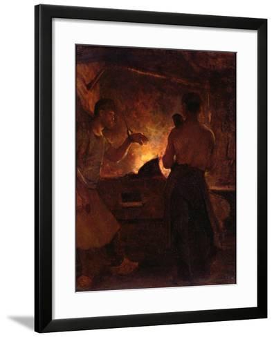 The Forge, C.1855-William Morris Hunt-Framed Art Print