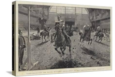 Rehearsing for the Royal Military Tournament at the Agricultural Hall, Islington-William Small-Stretched Canvas Print