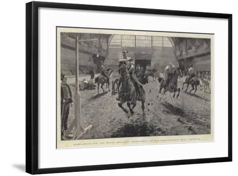 Rehearsing for the Royal Military Tournament at the Agricultural Hall, Islington-William Small-Framed Art Print