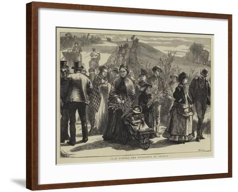 Palm Sunday, the Outskirts of London-William III Bromley-Framed Art Print
