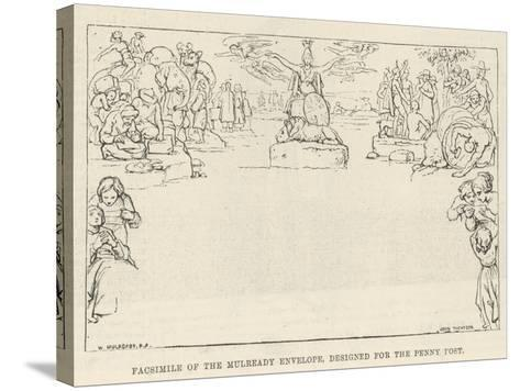 Facsimile of the Mulready Envelope, Designed for the Penny Post-William Mulready-Stretched Canvas Print