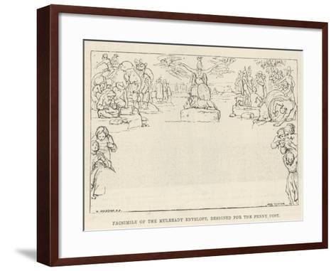 Facsimile of the Mulready Envelope, Designed for the Penny Post-William Mulready-Framed Art Print