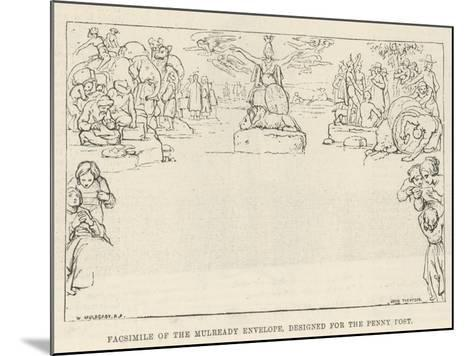 Facsimile of the Mulready Envelope, Designed for the Penny Post-William Mulready-Mounted Giclee Print