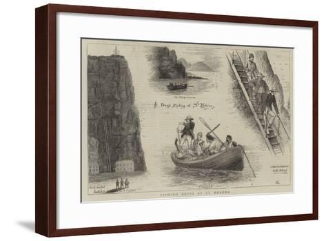 Fishing Notes at St Helena-William Ralston-Framed Art Print