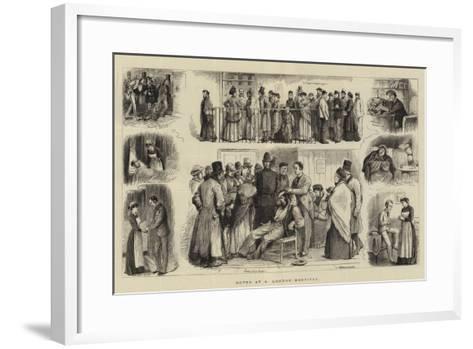 Notes at a London Hospital-William Ralston-Framed Art Print