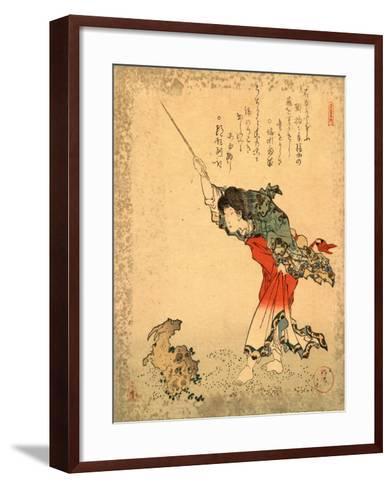 Kayuzue / Koshohei-Yanagawa Shigenobu-Framed Art Print