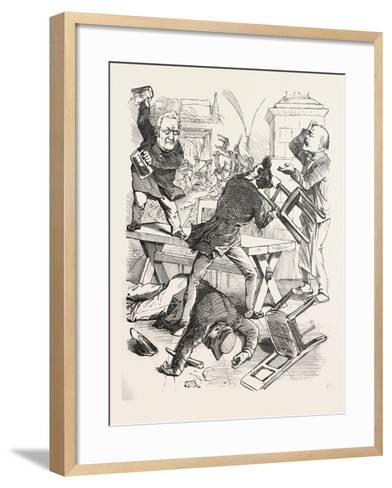 A Fight after a Glass of Beer--Framed Art Print