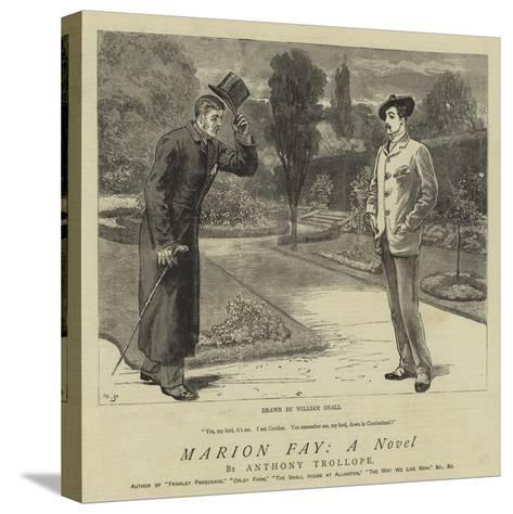 Marion Fay, a Novel-William Small-Stretched Canvas Print