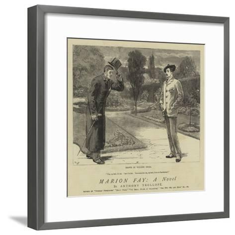 Marion Fay, a Novel-William Small-Framed Art Print