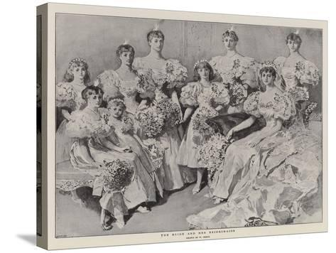 The Bride and Her Bridesmaids-William Small-Stretched Canvas Print