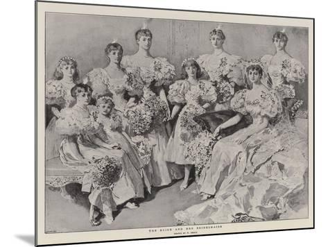 The Bride and Her Bridesmaids-William Small-Mounted Giclee Print