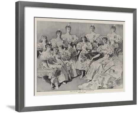 The Bride and Her Bridesmaids-William Small-Framed Art Print