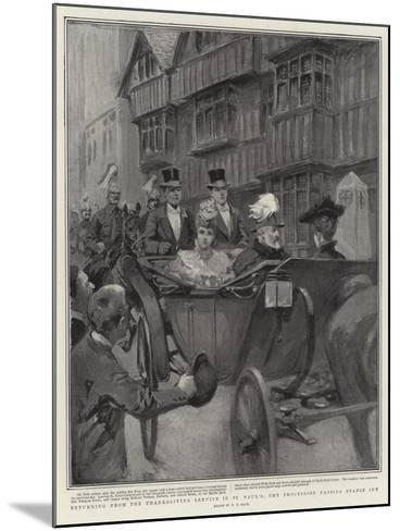 Returning from the Thanksgiving Service in St Paul's, the Procession Passing Staple Inn-William T^ Maud-Mounted Giclee Print