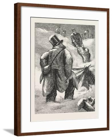 A Foraging Party--Framed Art Print