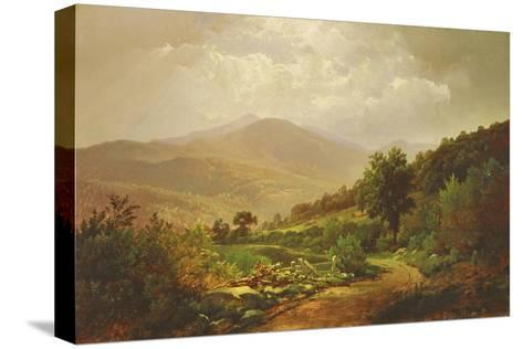 Bouquet Valley in the Adirondacks-William Trost Richards-Stretched Canvas Print