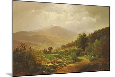 Bouquet Valley in the Adirondacks-William Trost Richards-Mounted Giclee Print