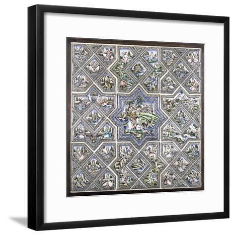 A Pottery Tile Panel--Framed Art Print