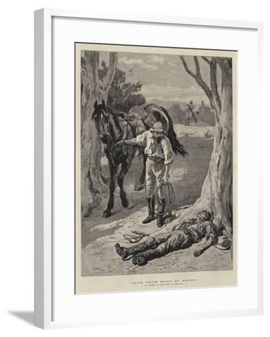 Dead from Want of Water-William Small-Framed Art Print