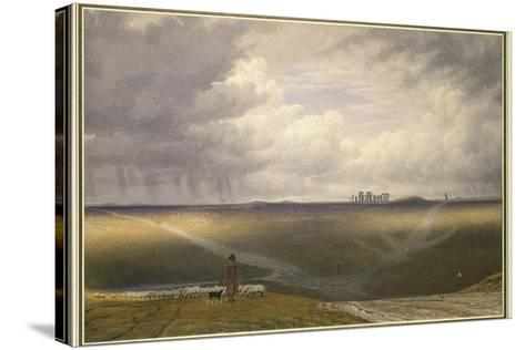 Stonehenge - a Showery Day-J^ M^ W^ Turner-Stretched Canvas Print