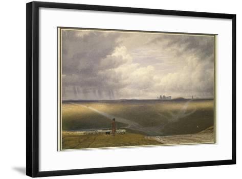 Stonehenge - a Showery Day-J^ M^ W^ Turner-Framed Art Print