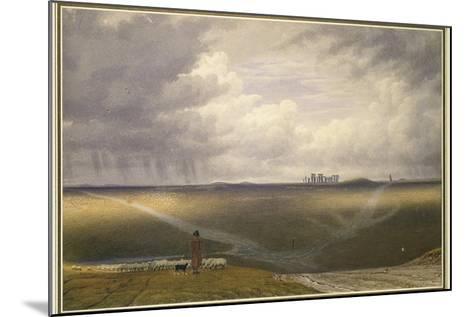 Stonehenge - a Showery Day-J^ M^ W^ Turner-Mounted Giclee Print