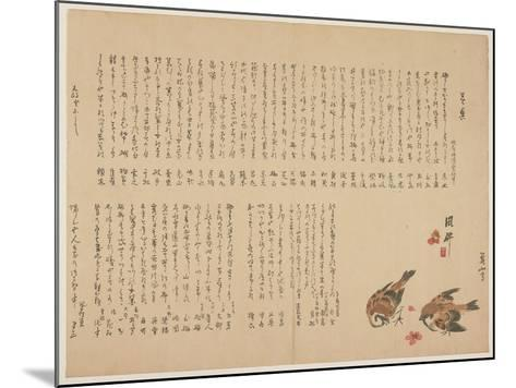 Sparrows and Plum Flowers, 1823-Yokoyama Kazan-Mounted Giclee Print