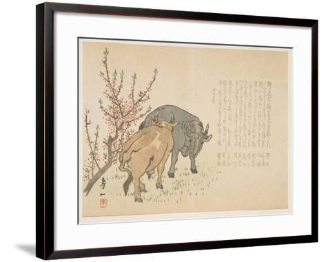 Oxen, January 1853-Yoshimura K?iitsu-Framed Art Print