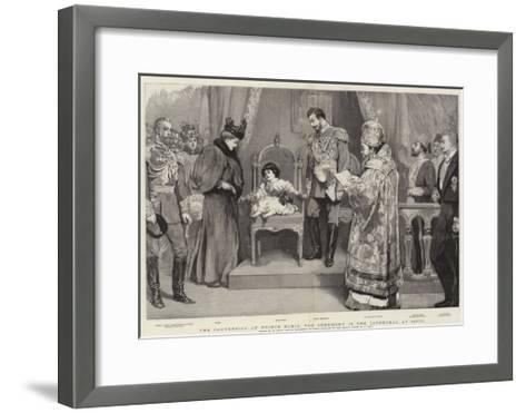 The Conversion of Prince Boris, the Ceremony in the Cathedral at Sofia-William Small-Framed Art Print