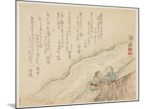 Two Women Pounding Silk, C.1854-59- Zengaku-Mounted Giclee Print