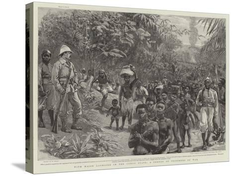 With Major Lothaire in the Congo State, a Convoy of Prisoners of War-William Small-Stretched Canvas Print