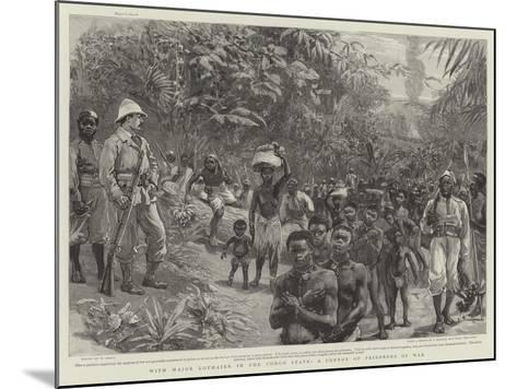 With Major Lothaire in the Congo State, a Convoy of Prisoners of War-William Small-Mounted Giclee Print