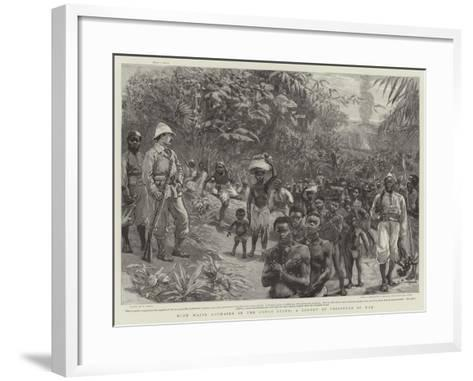 With Major Lothaire in the Congo State, a Convoy of Prisoners of War-William Small-Framed Art Print