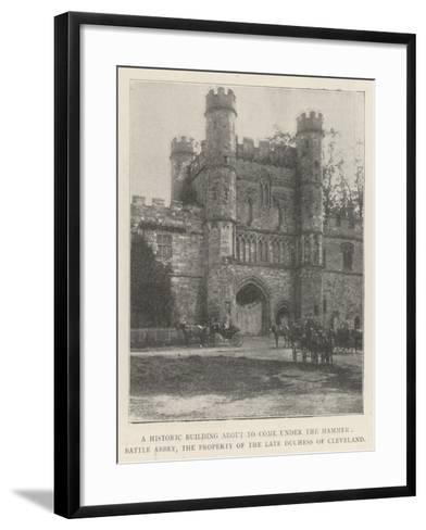 A Historic Building About to Come under the Hammer--Framed Art Print