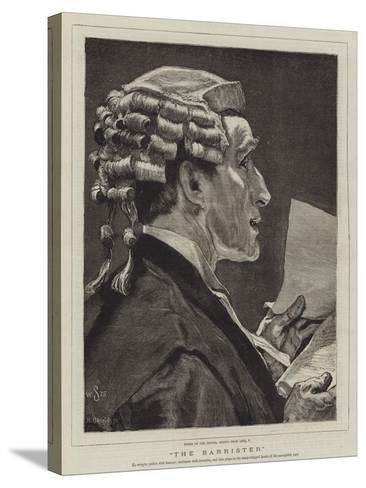 The Barrister-William Small-Stretched Canvas Print