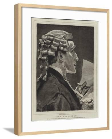 The Barrister-William Small-Framed Art Print