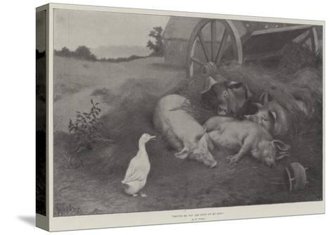 Excuse Me, You are Lying on My Nest-William Weekes-Stretched Canvas Print