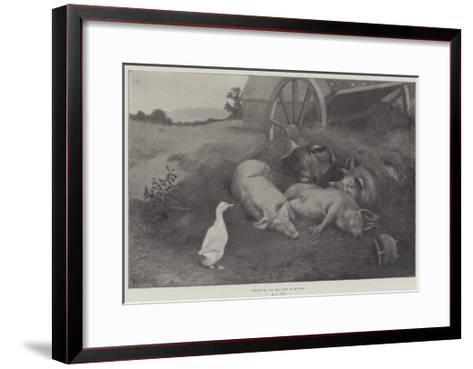 Excuse Me, You are Lying on My Nest-William Weekes-Framed Art Print