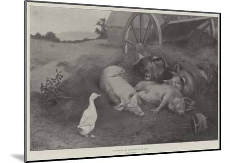 Excuse Me, You are Lying on My Nest-William Weekes-Mounted Giclee Print