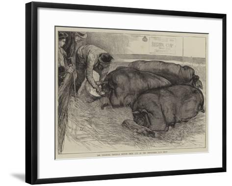 A Finishing Touch, a Sketch from Life at the Smithfield Club Show-William Small-Framed Art Print