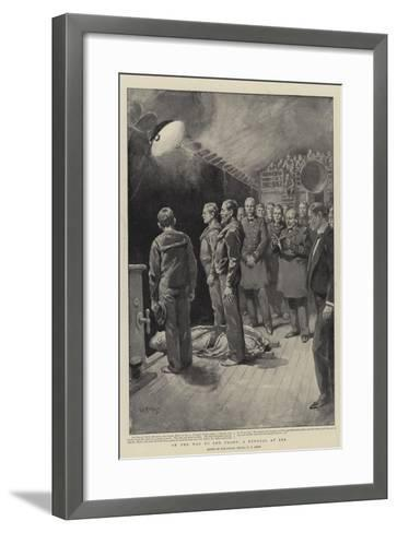 On the Way to the Front, a Funeral at Sea-William T^ Maud-Framed Art Print