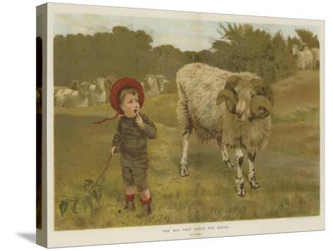 The Boy That Drove the Sheep-William Weekes-Stretched Canvas Print