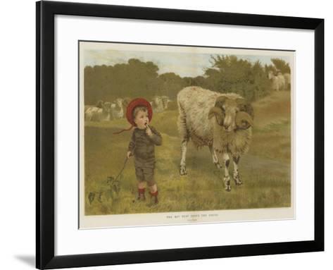 The Boy That Drove the Sheep-William Weekes-Framed Art Print