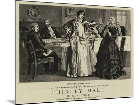 Thirlby Hall-William Small-Mounted Giclee Print