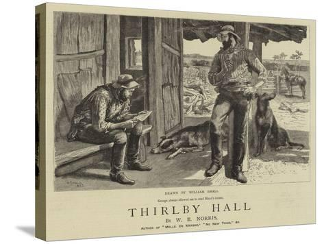 Thirlby Hall-William Small-Stretched Canvas Print
