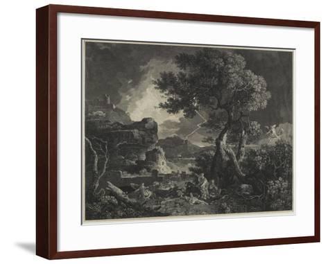 The Destruction of the Children of Niobe, 1761-William Woollett-Framed Art Print